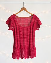 Ravelry: Feather & Fan Ribbed Tee pattern by Judy Croucher love this and its a free pattern!