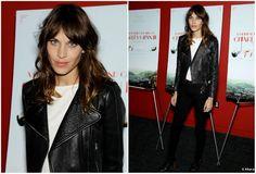 Alexa Chung nice leather jacket