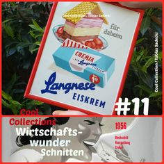 "Langnese-Blechschild ""Cremia"" 1956"