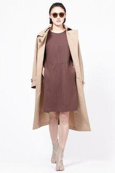 Jil Sander Short Sleeve Pullover Dress (Tobacco)