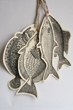 Fish paper decorations