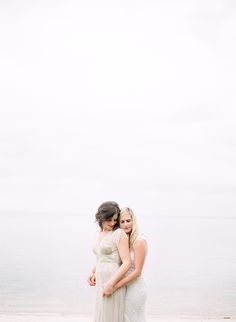 whitney + corinne | Aiguille Gown by Anna Sui for @BHLDN | #BHLDNbride