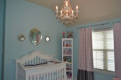 Project Nursery - Bed and Chandelier