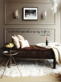 In order to be irreplaceable one must always be different.—Coco Chanel
