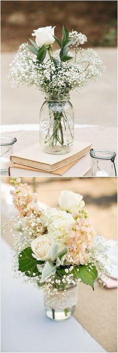 Rustic mason jar wedding centerpieces #wedding #weddingideas #centerpieces / http://www.deerpearlflowers.com/wedding-centerpiece-ideas/ #weddingcenterpieces