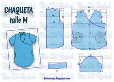 Blog de patronaje y diseño Scrubs Outfit, Scrubs Uniform, Nurse Scrubs, Blouse Patterns, Clothing Patterns, Sewing Patterns, Jacket Pattern, Top Pattern, Sewing Hacks