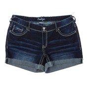 Flap Pocket Denim Shorts - Jr. Plus