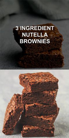 Brownie recipes 829225350123103008 - Easy 3 Ingredient Nutella Brownies – Deliciously thick and fudgy brownies that are LOADED with Nutella flavour, and made from only 3 simple ingredients. The BEST easy brownie recipe! Easy Homemade Desserts, Easy Chocolate Desserts, Chocolate Chip Recipes, Chocolate Chips, 3 Ingredient Nutella Brownies, 3 Ingredient Cakes, 3 Ingredient Recipes, Buttermilk Cake Recipe, Easy Vanilla Cake Recipe