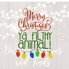 DIGITAL DOWNLOAD svg png merry christmas ya filthy animal home alone retro vintage winter holiday silhouette cricut cut file shirt print