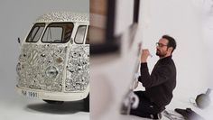 Pull & Bear's collaboration with 4 international artists / a professional doodling with various techniques to get this awesome job done on a white painted volkswagen T1 vans. It is clearly amazing!  -- http://www.designfather.com/introducing-the-pullbear-custom-volkswagen-t1-vans/