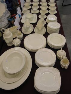 Our dishes!!! Here are some fun finds... hmmm... wedgwood edme