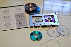 "Teac ""Open Reel"" Cassette tape - the fully self-constructable version with different coloured spools."
