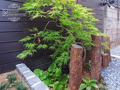 坪庭 和風 石 六方石