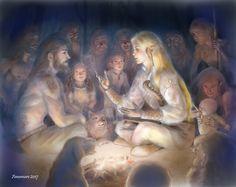 Finrod encontrándose con Barahir y los hombres por primera vez ... by annamare.deviantart.com on @DeviantArt