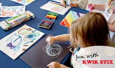 Kwik Stix - Fun, mess free paint sticks! Simple enough a 2 yar old can use!  a review by Running With Spears #kidsartsupplies