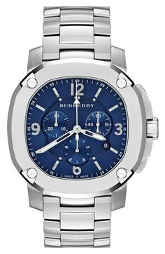 Burberry The Britain Chronograph Bracelet Watch, 47mm available at #Nordstrom