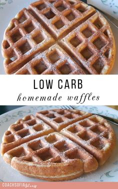 HOMEMADE WAFFLE RECIPE | low carb waffle easy on the gut and anti-inflammatory | easy waffle
