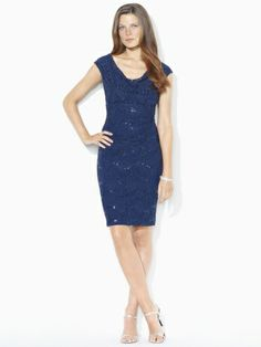 Cowlneck Sequined Dress - Lauren - ? wear to Alex and Jessica's wedding??