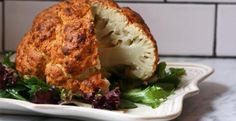 From Kitchen Daily, spicy whole roasted cauliflower.