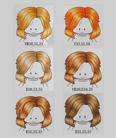 Blond hair tutorial using Copic markers
