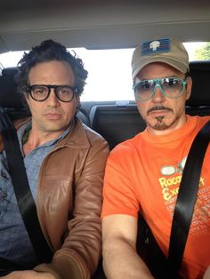 "From Robert Downey Jr.'s Twitter, May 23, 2014: ""Safety first this Memorial Day weekend--strap in with Mark and Bob!"""