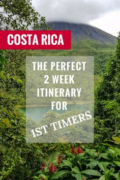 An incredible 2 week Costa Rica itinerary perfect for first timers. Discover the Caribbean and Pacific, rain forest, volcano and cloud forest. Click through to read: https://mytanfeet.com/costa-rica-travel-tips/two-weeks-costa-rica-itinerary/