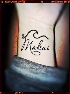 Wave Tattoo Makai(Hawaiian directional term) meaning= towards the ocean #wavetattoo#ocean#mypassion