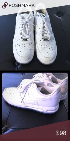 Nike Lunar Force 1's Men Size 9 White-Ice Blue Nike Lunar Force 1's Men Size 9 White-Ice Blue. Barely worn, like new! Nike Shoes Sneakers