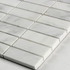 MS International Arabescato Carrara 1'' x 3'' Marble Mosaic Tile