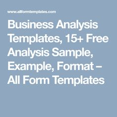 20 best business analysis templates images on pinterest free business analysis templates 15 free analysis sample example format all form accmission Image collections