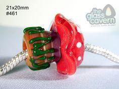 Handmade Large Hole Toadstool Borosilicate Glass Bead by TheGlassCavern on Etsy