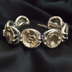 Bracciale in argento brunito e bronzo