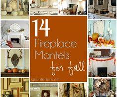 14 Festive Fireplace Mantels for Fall   Home Decor News