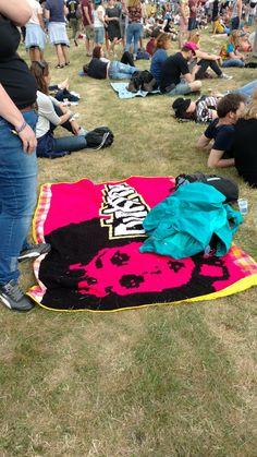 gehaakte pinkpop deken