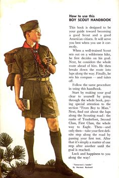 """""""Tomorrow's Leader"""" by Norman Rockwell from the Boy Scout Handbook 1965 edition."""