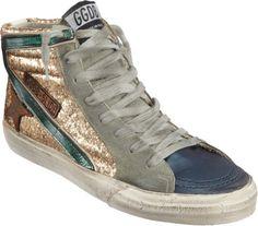 Glittered Slide Sneaker @Lyst