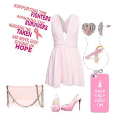 """""""Breast cancer awareness party!"""" by ann-charlotte-amundsen ❤ liked on Polyvore featuring Bling Jewelry, Casetify, KC Designs, NLY Trend, STELLA McCARTNEY, Christian Louboutin, Pink, breastcancerawareness, fighters and breastcancerawarenessMonth"""