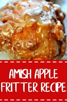 Homemade Apple Fritters Recipe - New ideas Amish Apple Fritter Recipe, Apple Fritter Bread, Apple Bread, Amish Doughnut Recipe, Apple Fritter Doughnut Recipe, Baked Apple Fritters, Apple Cake Recipes, Donut Recipes, Easy Cake Recipes