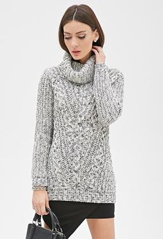 MARLED TURTLENECK SWEATER, $19.99, @forever21 __Via:LuckyMagazine 31 Perfect January Outfits