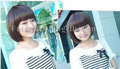 Beautiful Human made Girl's Short Wig (Light Brown) style 3 sold by Fattycat by FATTYCAT. $14.99. Long: 30 cm   Available color: dark brown, light brown   Material: high quality synthetic fiber.  Cannot use with hair dryer. can use with most hair product to re-stylist, the picture is one of the suggestion.. You will be surprise because of the quality of this product. It is very natural looking and soft tough feel like real hair. Please fell free to contact us if you have...