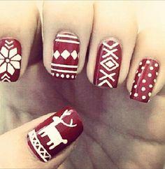 Winter fashion #winternails #christmas