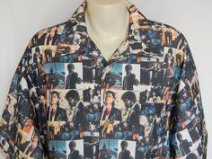 Pulp Fiction Travolta Thurman Jackson Player$ Big Pimping 4XL Mens Shirt #PlayerBigPimping #ButtonFront
