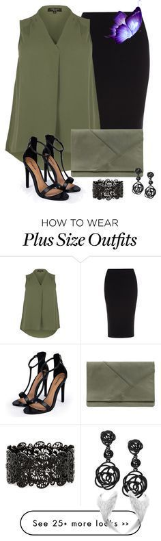 Designer Clothes, Shoes & Bags for Women | SSENSE I'm not plus- sized but this outfit is super cute!<br> Curvy Girl Fashion, Work Fashion, Trendy Fashion, Plus Size Fashion, Womens Fashion, Fashion Black, Style Fashion, Trendy Style, Fashion Books