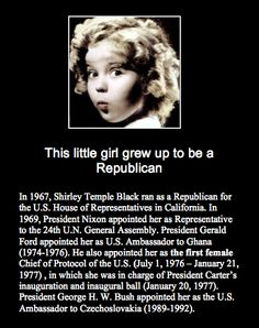 Shirley Temple. I didn't know that.