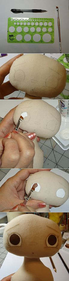 Comment dessiner un textile yeux de poupée - main-Paradise
