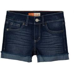 Levi's Girls' Frayed Rolled Cuff Short, Size: 4