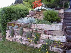 natursteinmauer garten - Google-Suche