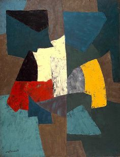 Abstract Composition 1954 Serge Poliakoff 1900-1969 by BoFransson, via Flickr