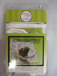Petal Crafts Southern Magnolia Cutters Set & veiner gum paste cake decorating #PetalCrafts