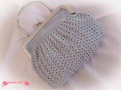 Bolso de fiesta Silver Bag a crochet